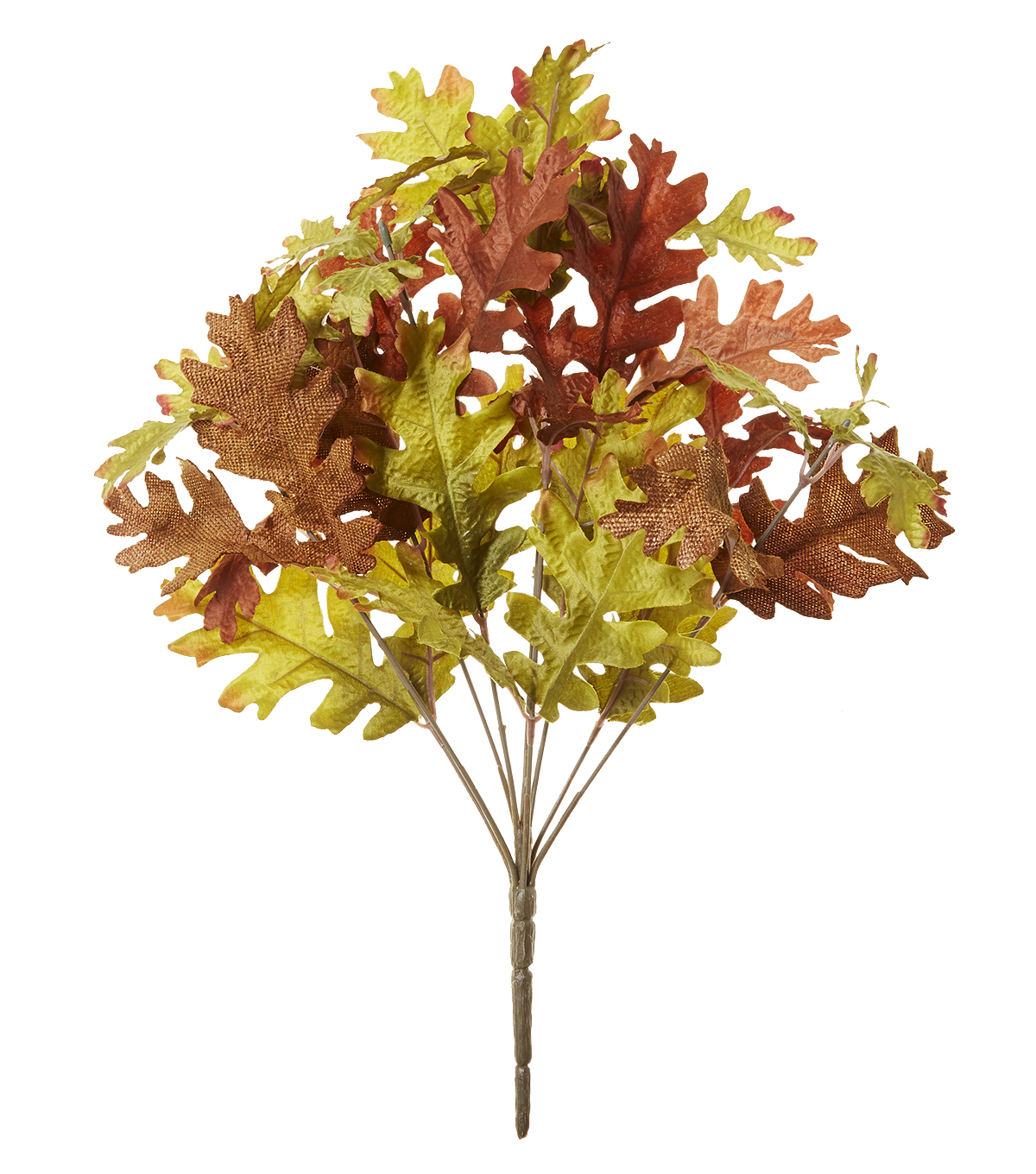 Blooming Autumn 19'' Oak Leaves Bush-Brown & Green