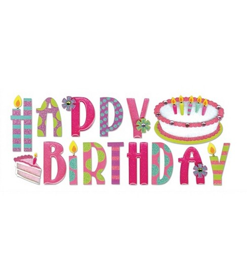 Jolee's Boutique Title Wave Stickers-Happy Birthday