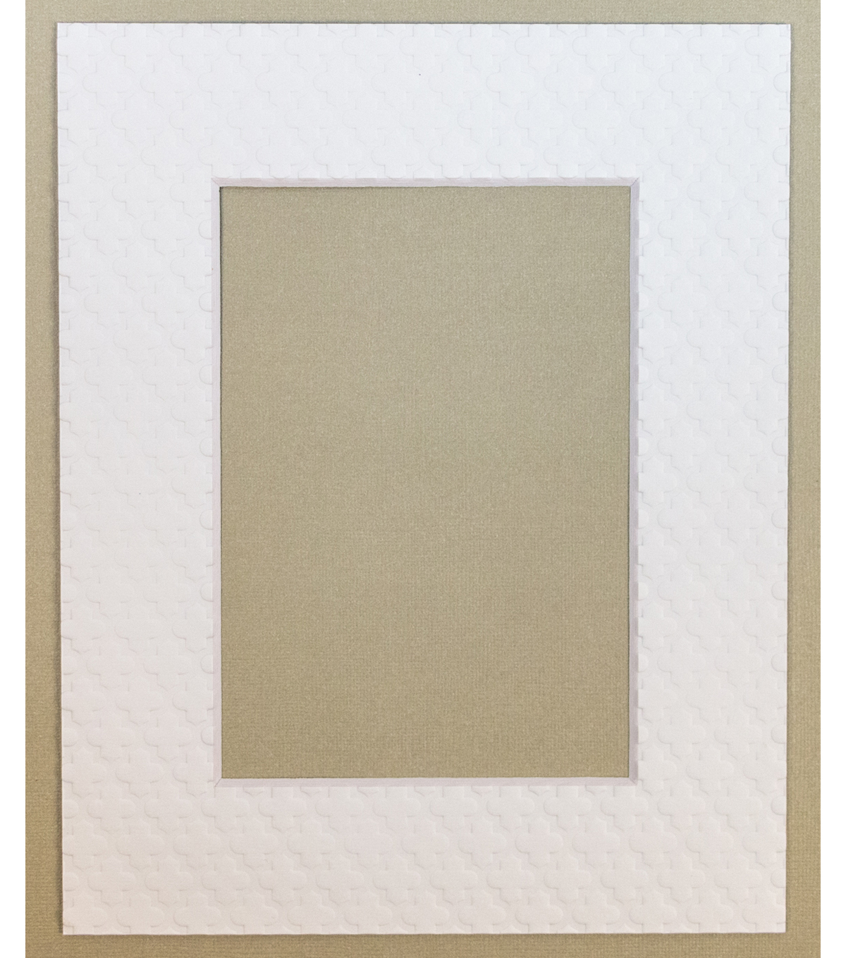 Framing Mat 8X10-White With Raised Design