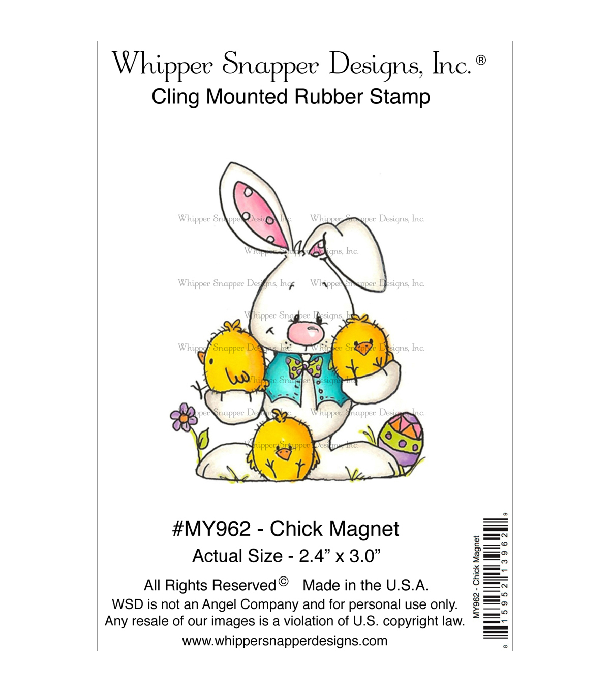 Whipper Snapper Designs Cling Stamp-Chick Magnet