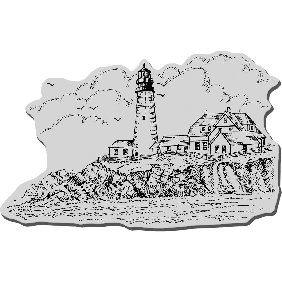 Prt Hd Lhs-cling Rubber Stamp