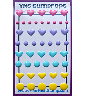 Your Next Stamp Gumdrops Embellishments 54 pk-Heart And Dot