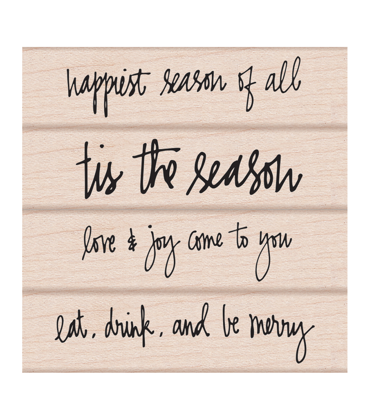 Hero Arts® 4 Pack Wood Mounted Rubber Stamp-Happiest Season of All