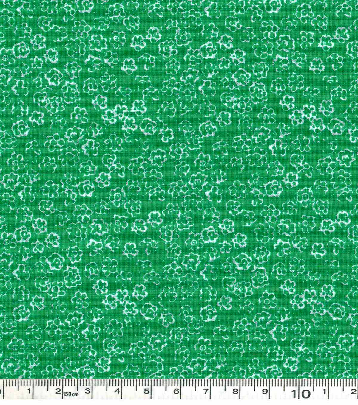 Keepsake Calico™ Cotton Fabric-Scribble Flowers Green