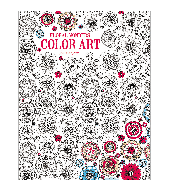 Adult Coloring Book Leisure Arts Floral Wonders