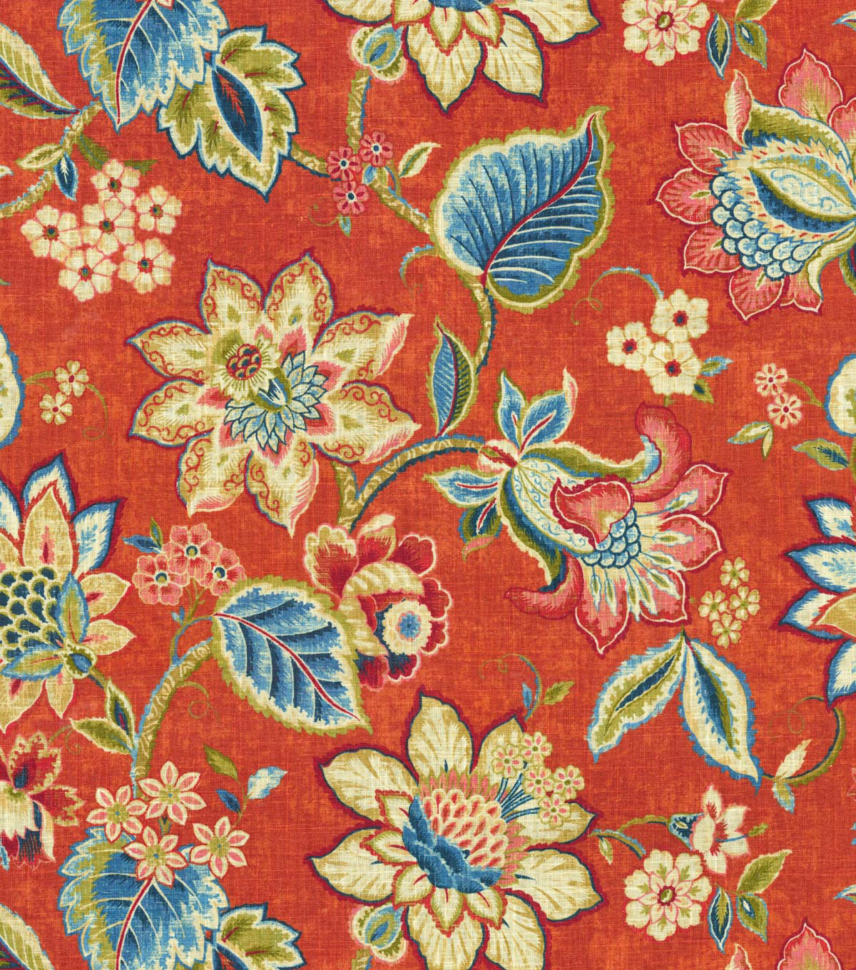 "Waverly Upholstery Fabric 54""-Floral Fresh Gem"
