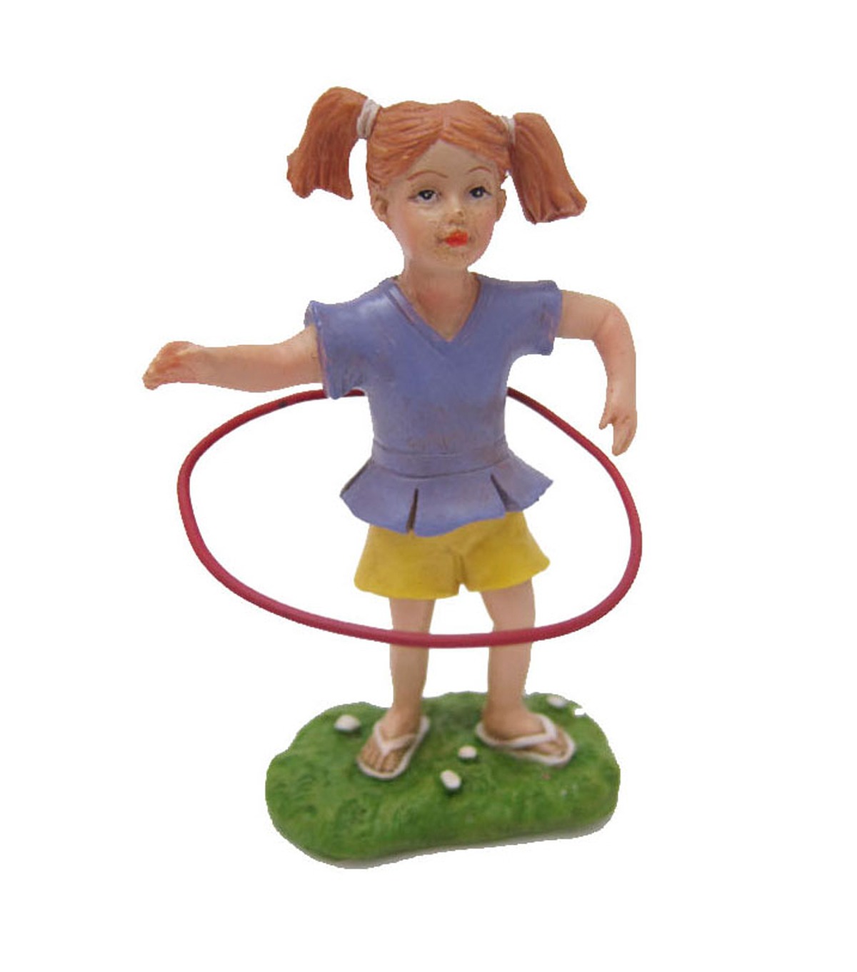 Bloom Room Littles Resin Girl with Hula Hoop