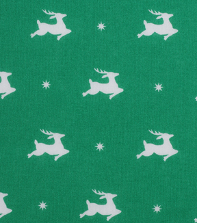 Holiday Showcase™ Christmas Cotton Fabric 43''-Flying Reindeer on Green