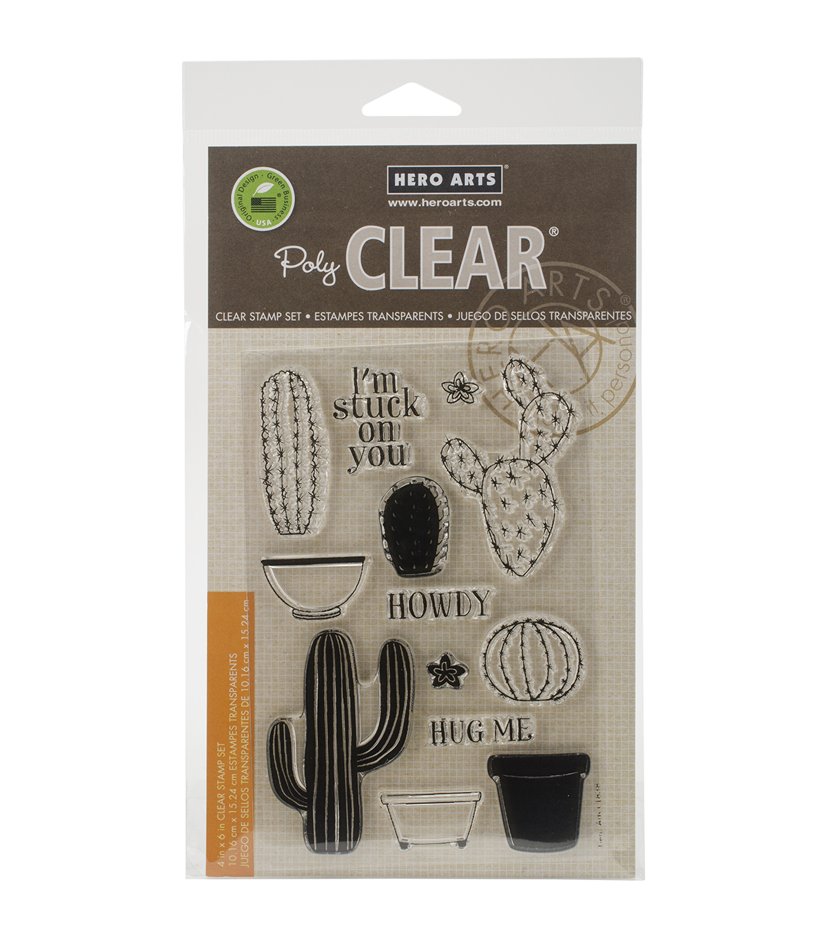 Hero Arts Stamp Your Own Cactus Clear Stamps