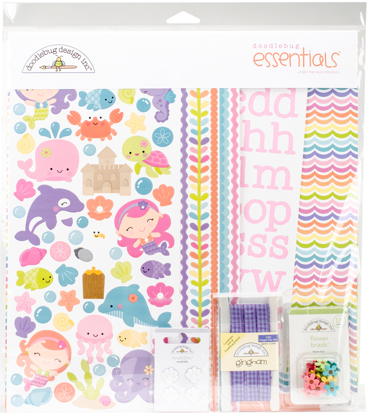 "Doodlebug Essentials Page Kit 12""X12""-Under The Sea"