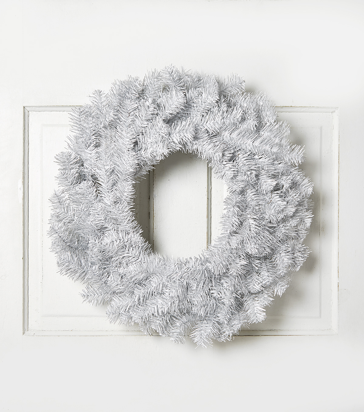 Blooming Holiday 24'' Pine Wreath-Silver