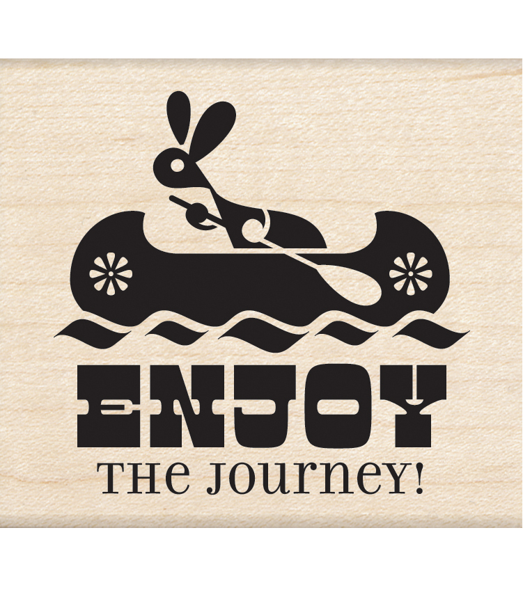 Inkadinkado Mounted Rubber Stamp Enjoy The Journey