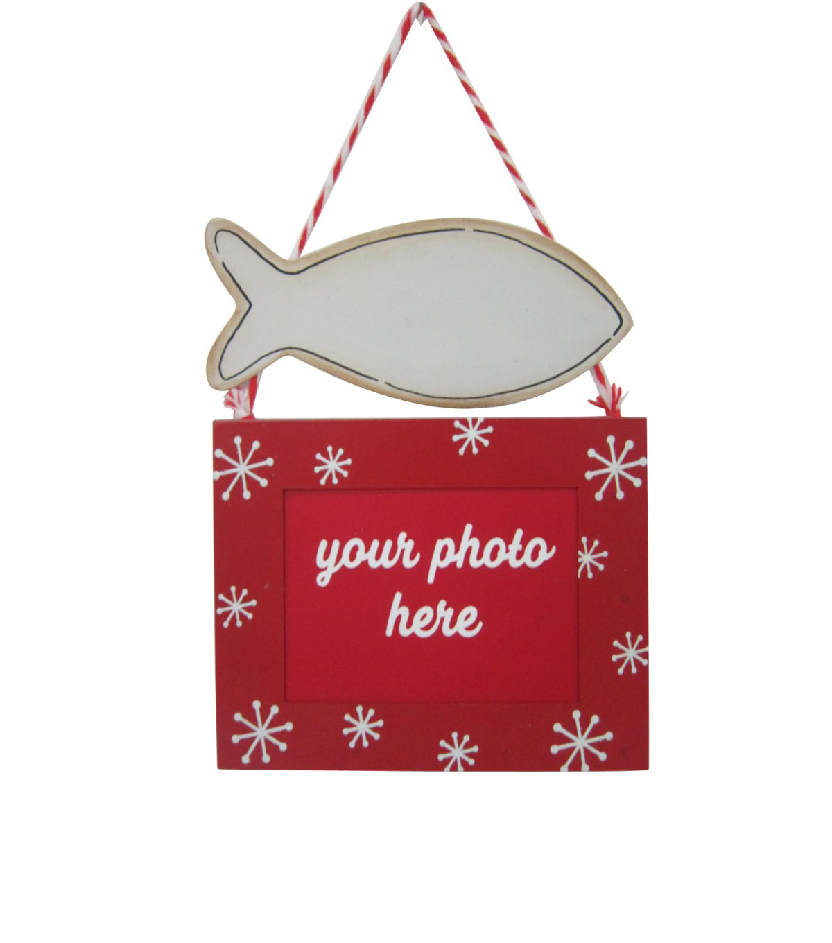 Maker\u0027s Holiday Christmas Cat Picture Frame Ornament