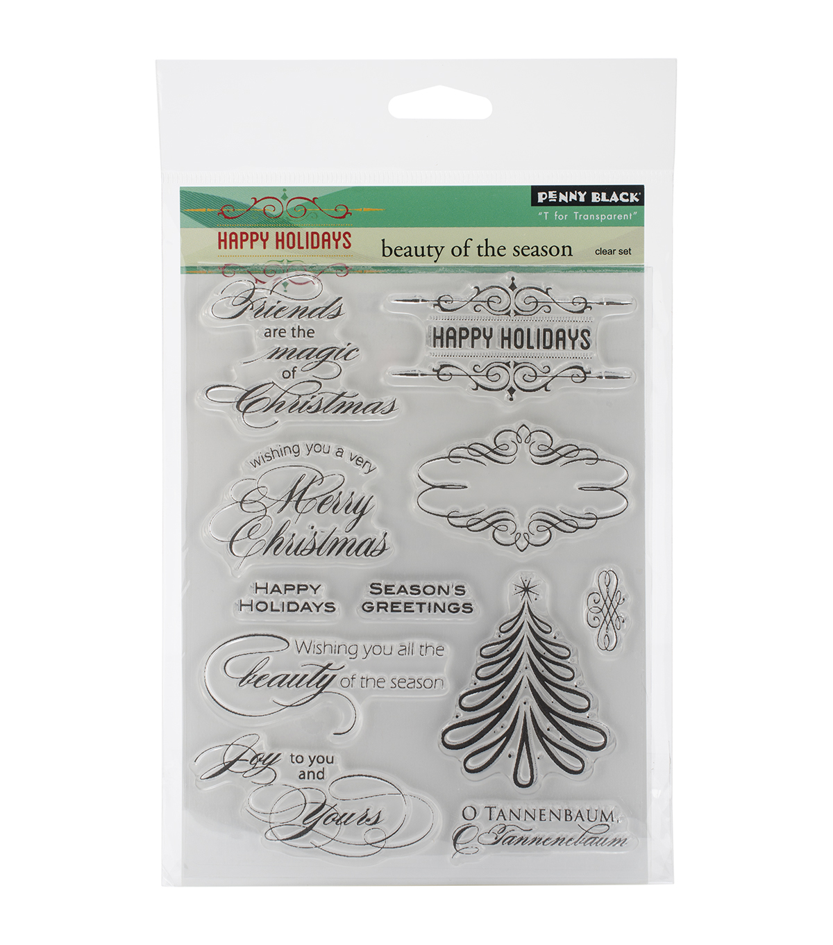 "Penny Black Clear Stamps 5""X7.5"" Sheet-Beauty of the Season"