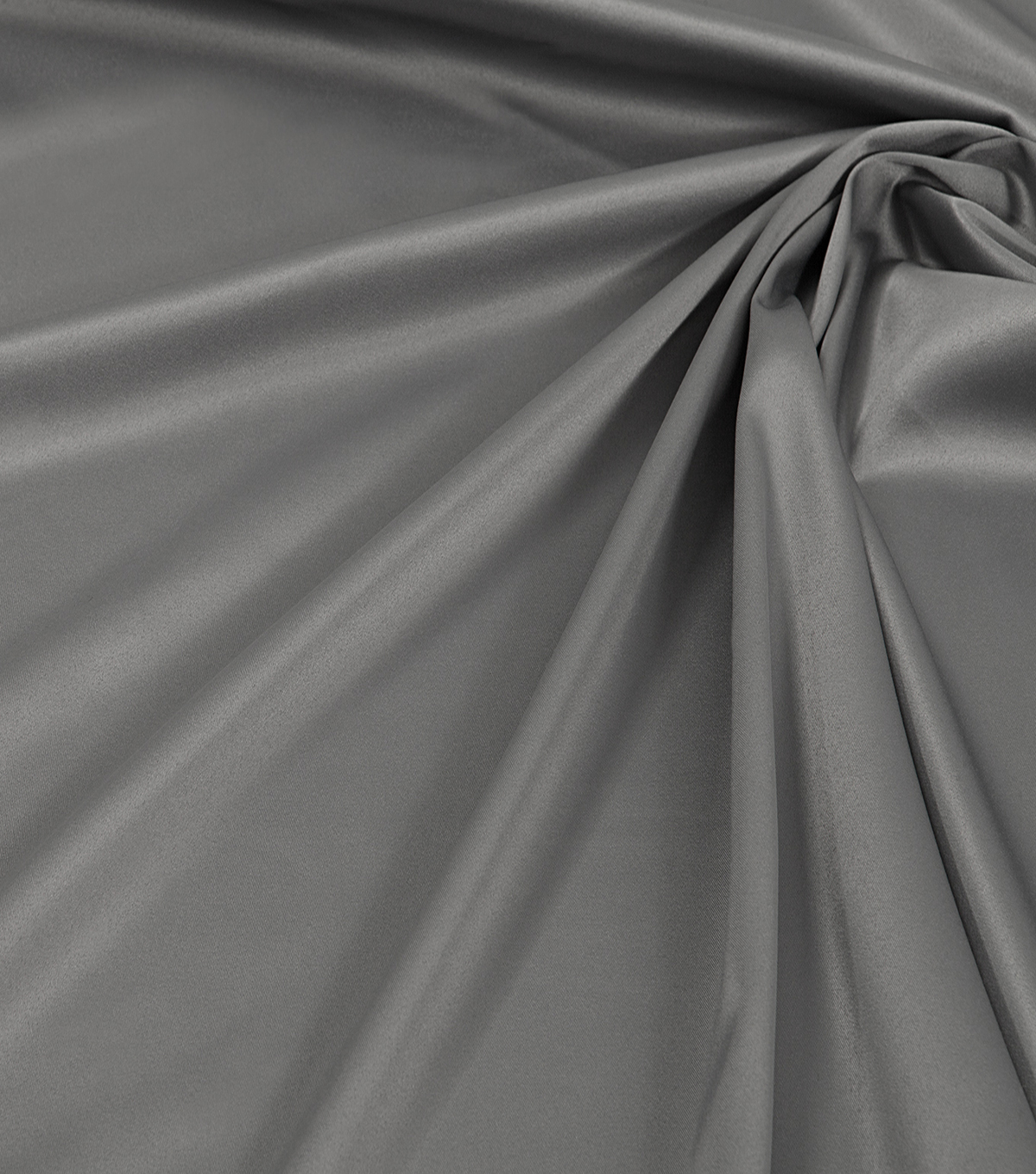 Silk Solids Fabric-Gray Stretch Poly Spndx