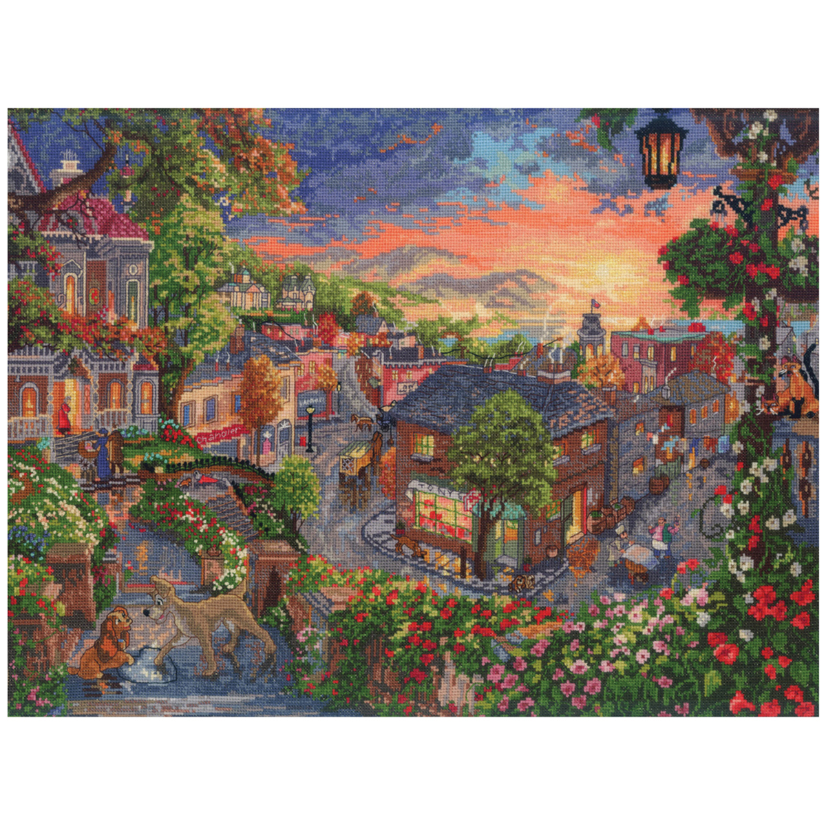 "Disney® Dreams Collection By Thomas Kinkade Lady&The Tramp-16""X12"""