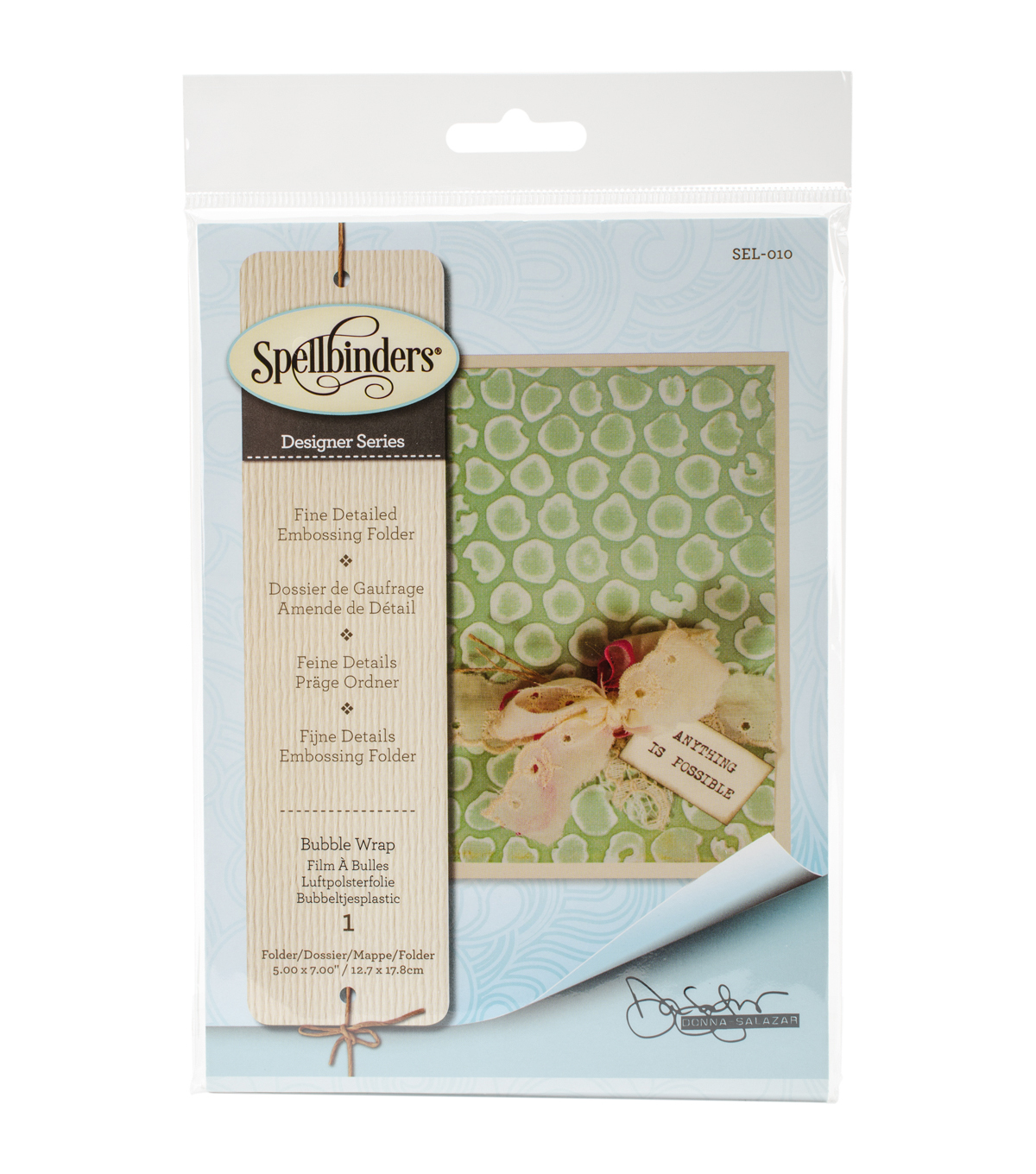 Spellbinders™ Donna Salazar Large Embossing Folder-Bubble Wrap