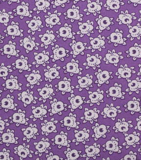 1930\u0027s Cotton Fabric 43\u0022-Simple Flower Purple