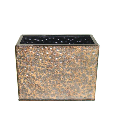 Bloom Room Rectangle Metal Container