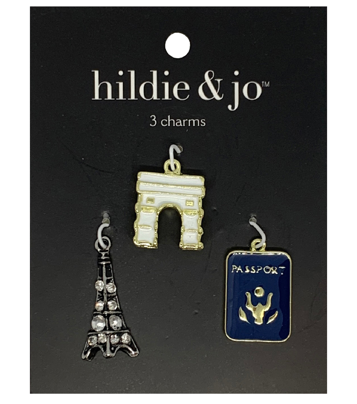 Blue Moon Beads Charms, Passport Paris Travel