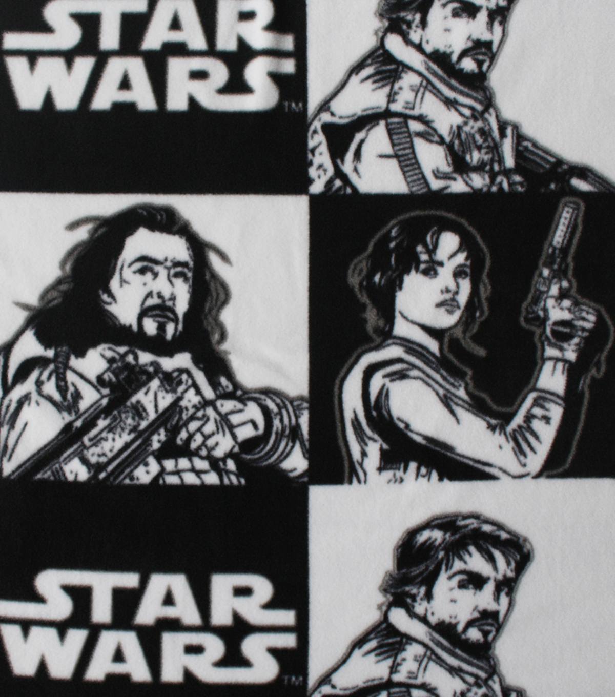 Star Wars™ Rogue One Fleece Fabric 58\u0022-Rebel Checkers