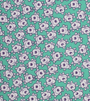 1930\u0027s Cotton Fabric 43\u0022-Simple Flower Green