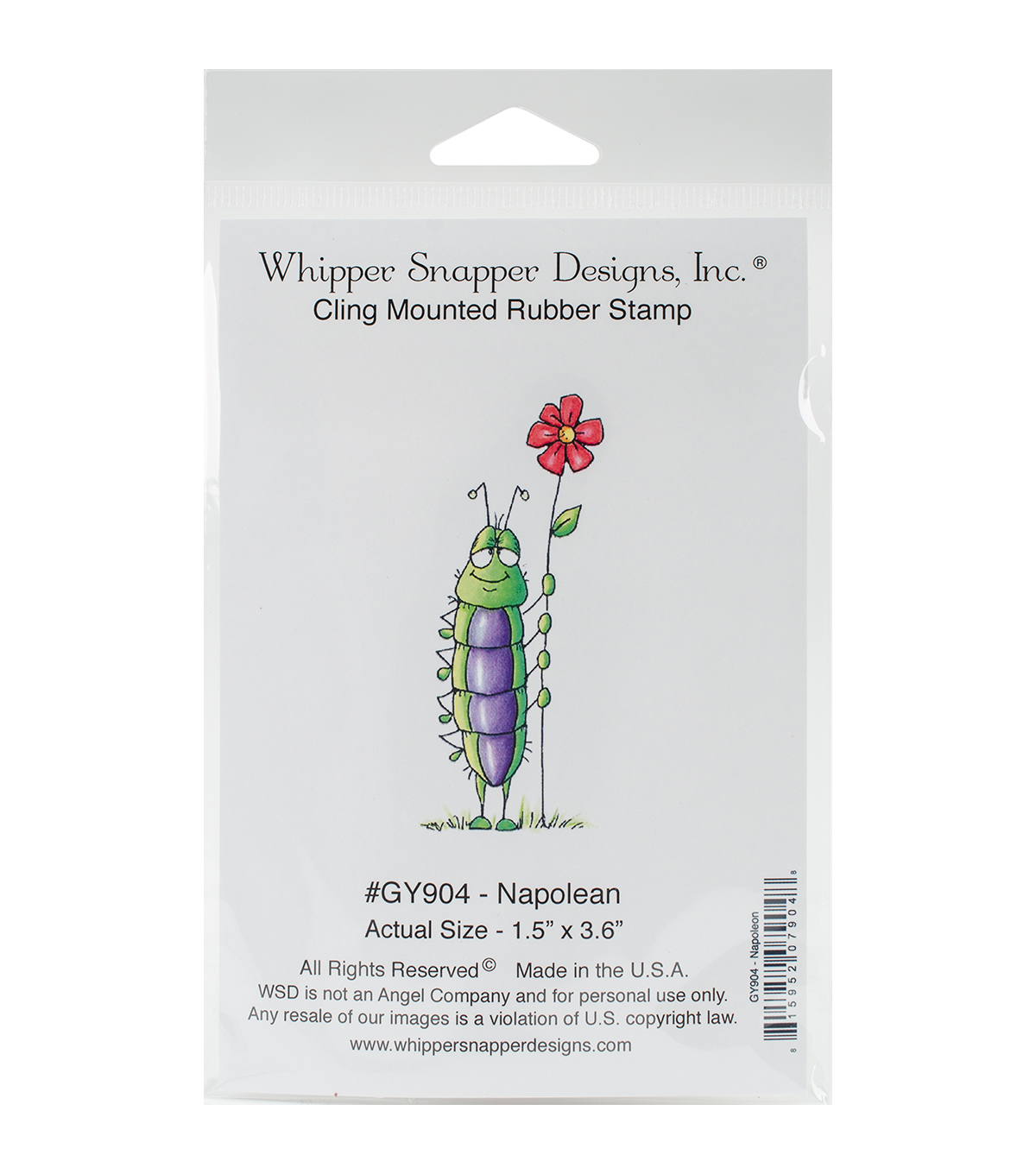 Whipper Snapper Designs Cling Stamp-Napolean