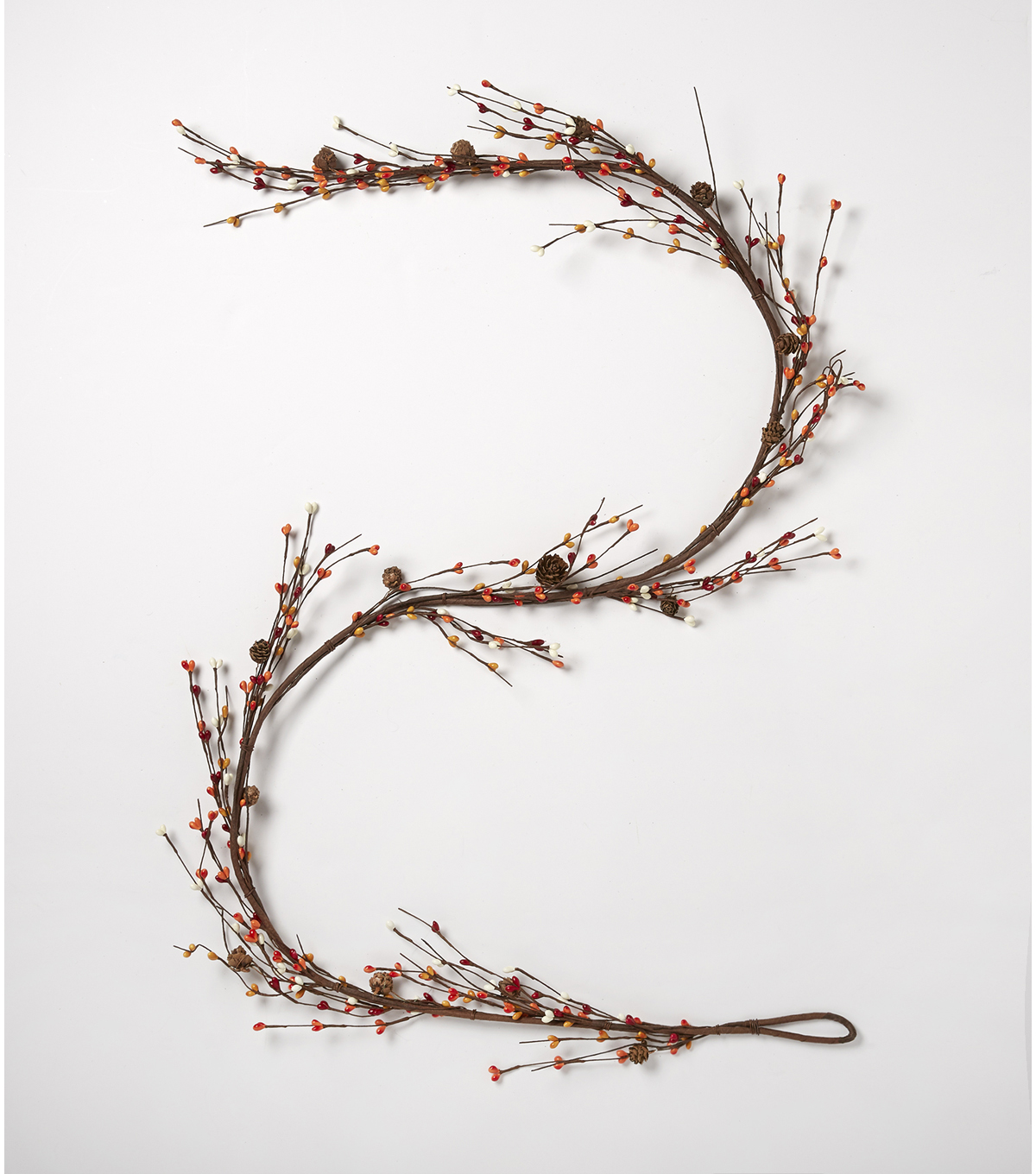 Blooming Autumn 66\u0027\u0027 Pinecone & Mixed Berry Garland-Brown