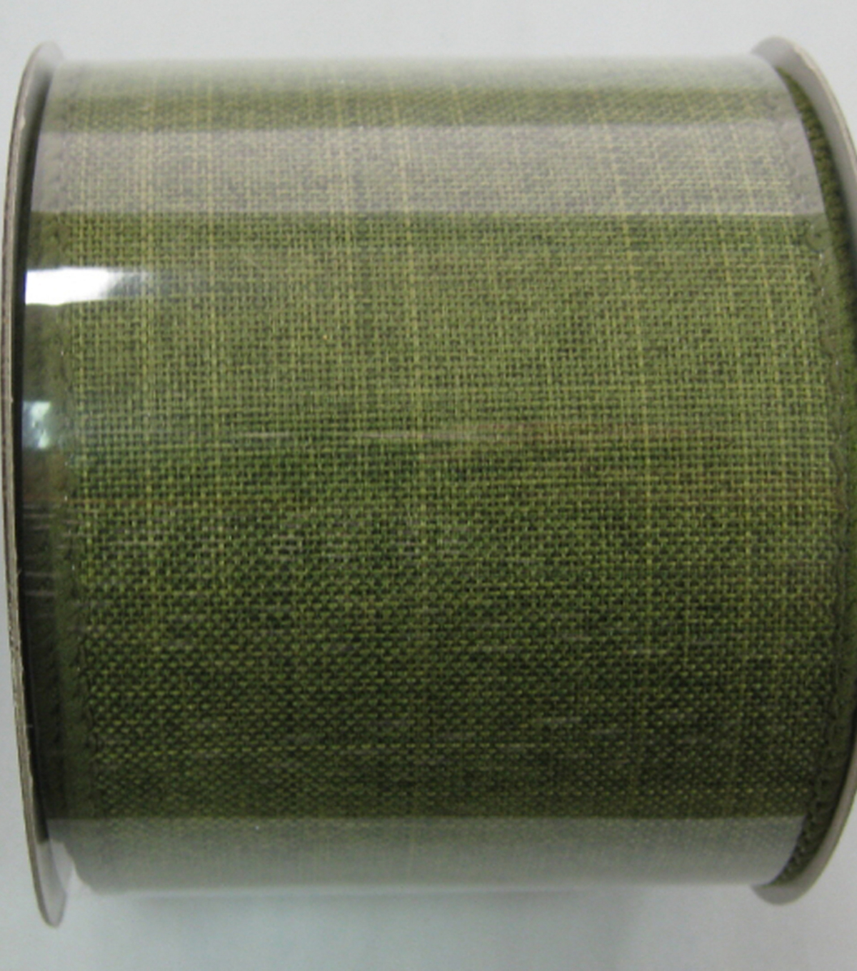 Linen Solid Green Two And Half Inch