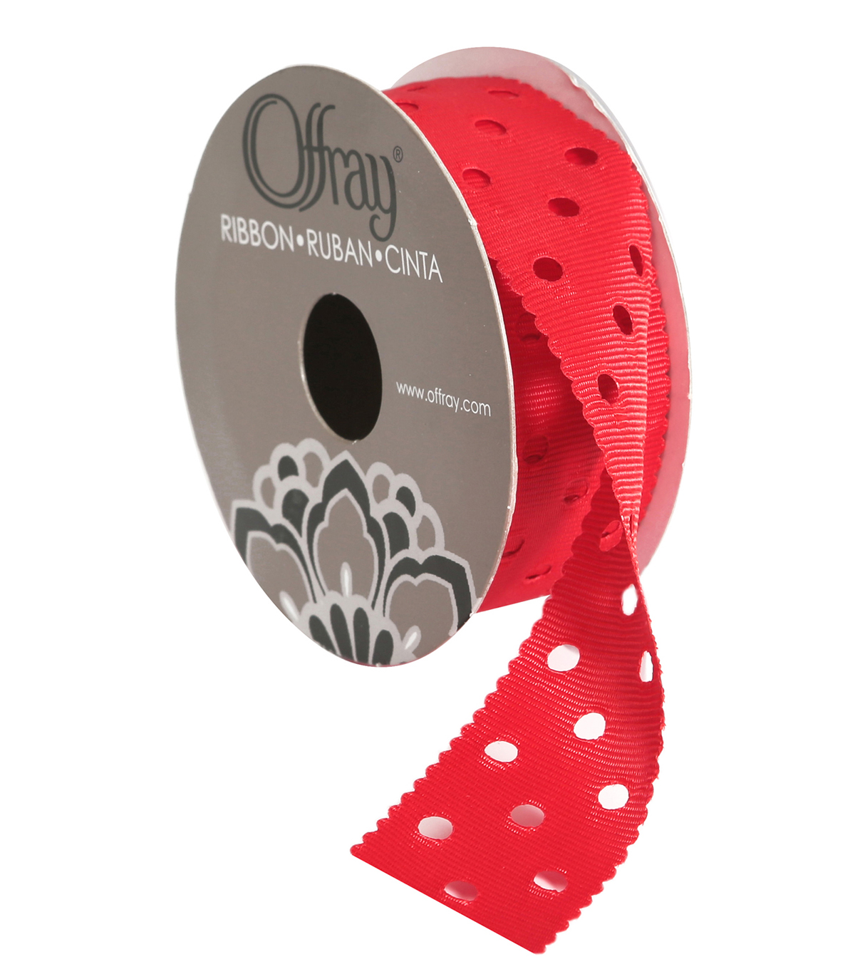 Swiss Dots 1\u0022Red Ribbon