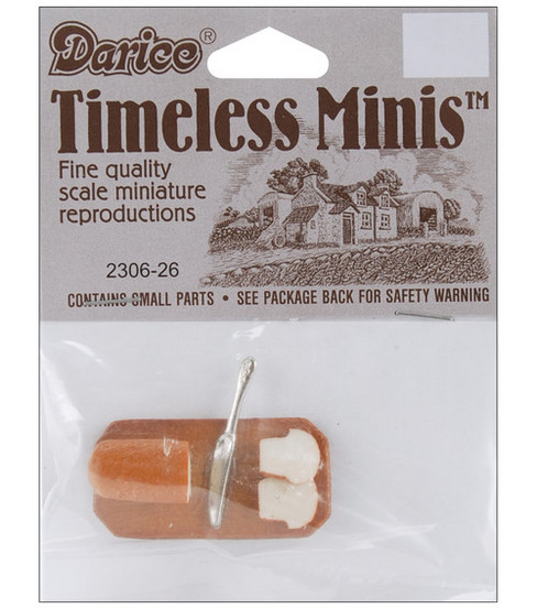 Darice Timeless Miniatures Bread & Knife