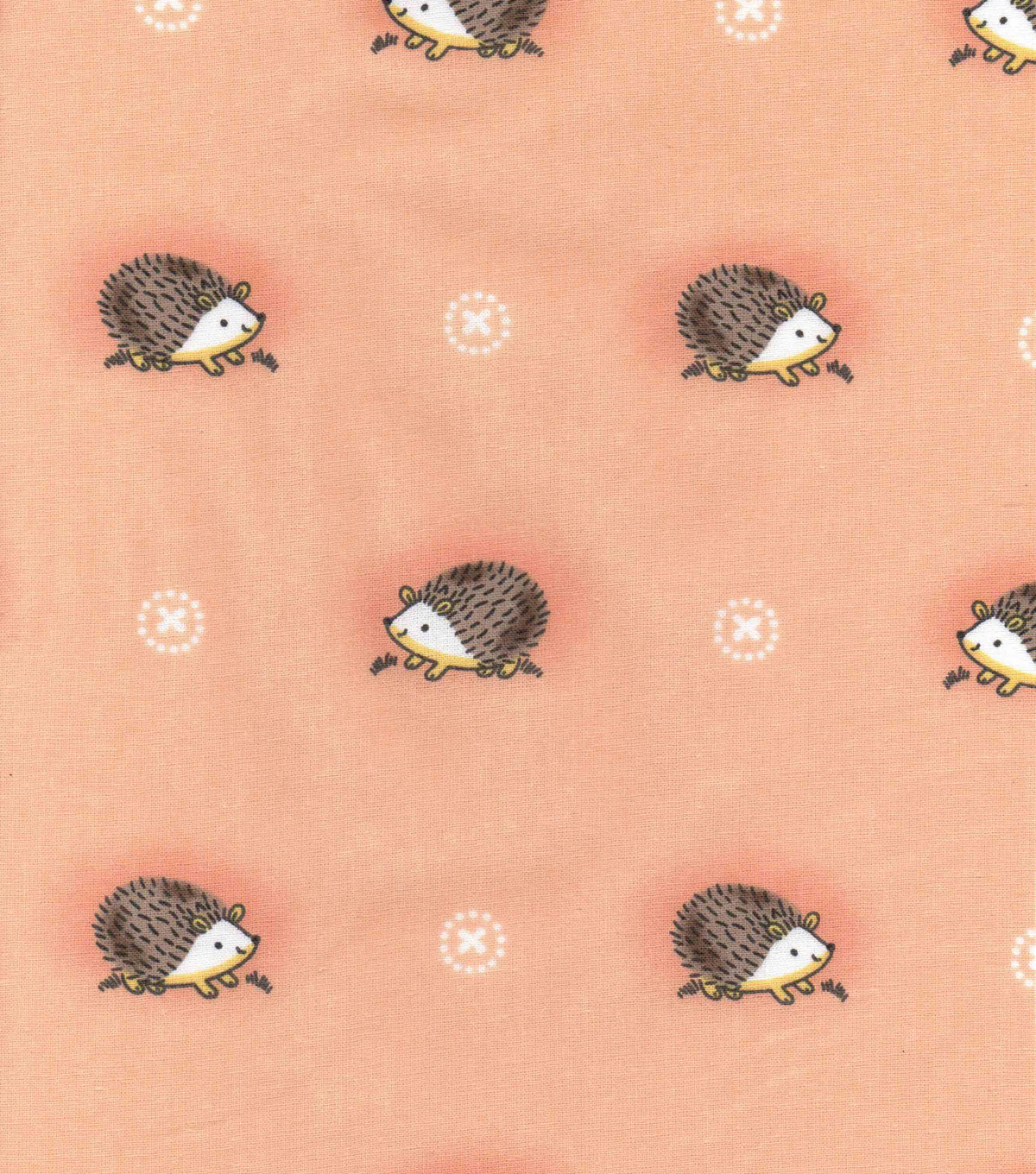 Nursery Cotton Fabric 43\u0022-Woodland Hedgehog