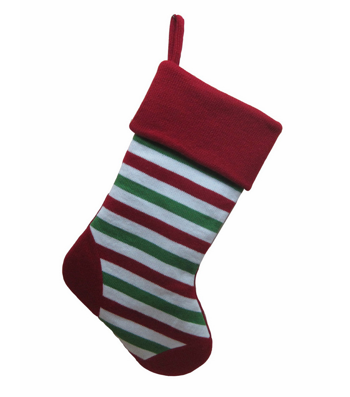 Maker's Holiday Knit Stocking-Striped