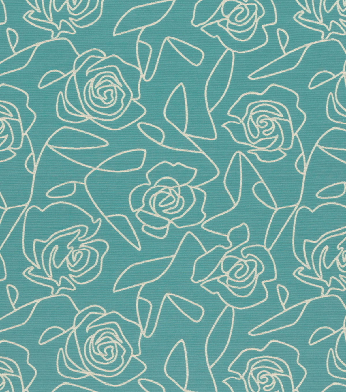 Crypton Upholstery Fabric 54\u0022-Bed Of Roses-Blue
