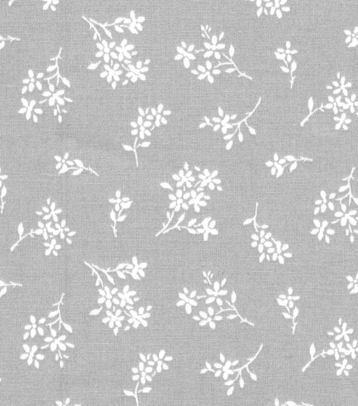 Quilter's Showcase™ Fabric 44''-Ditsy Floral on Light Gray