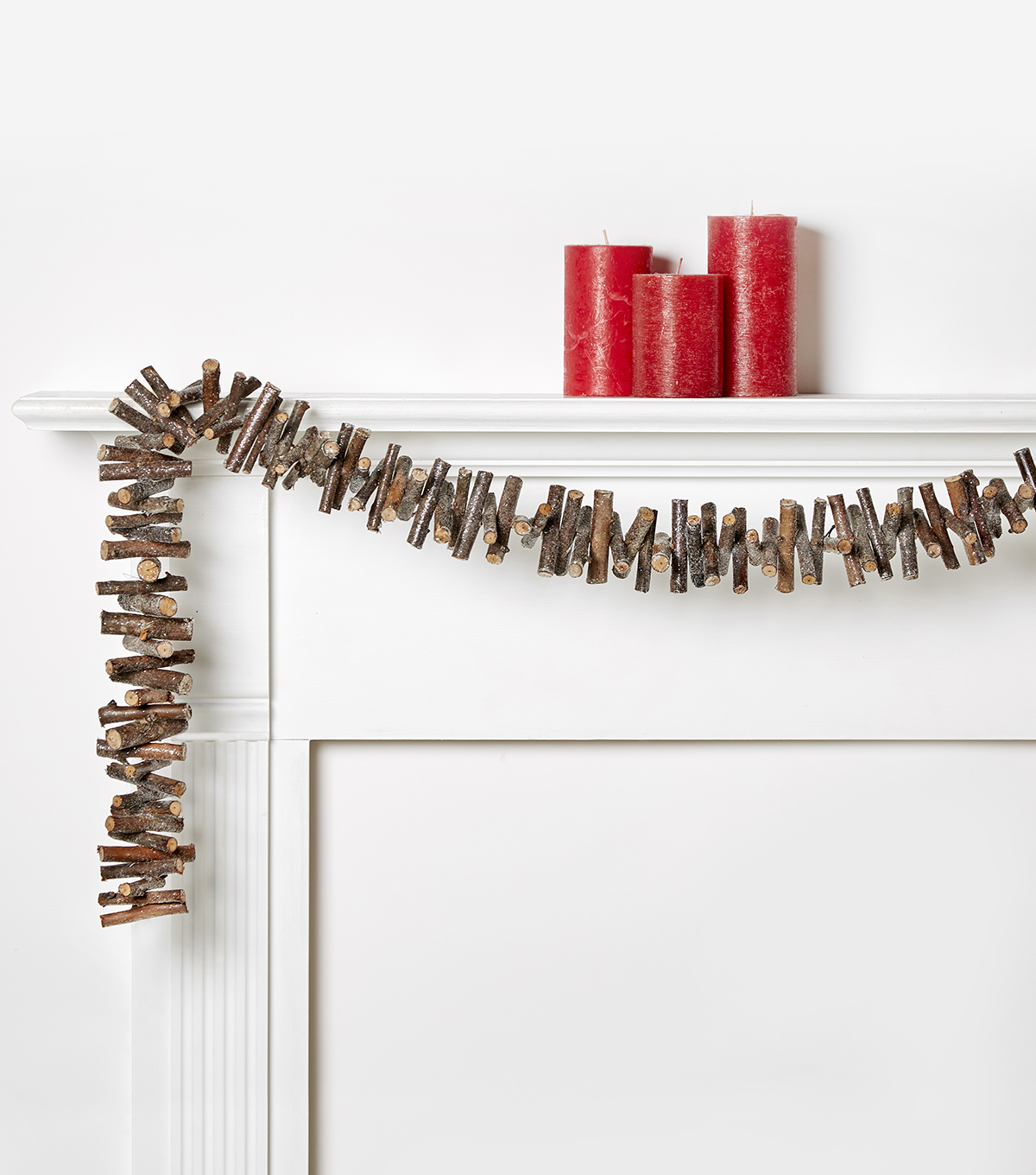 Blooming Holiday 66\u0027\u0027 Log Garland