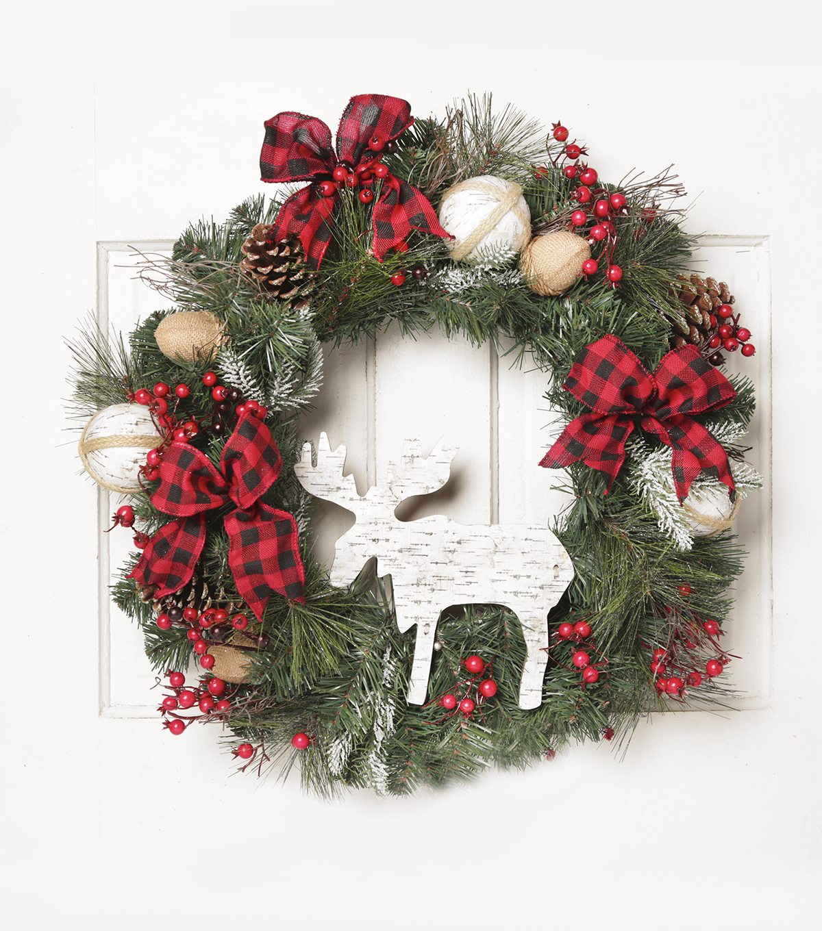 Blooming Holiday 26\u0027\u0027 Moose Wreath