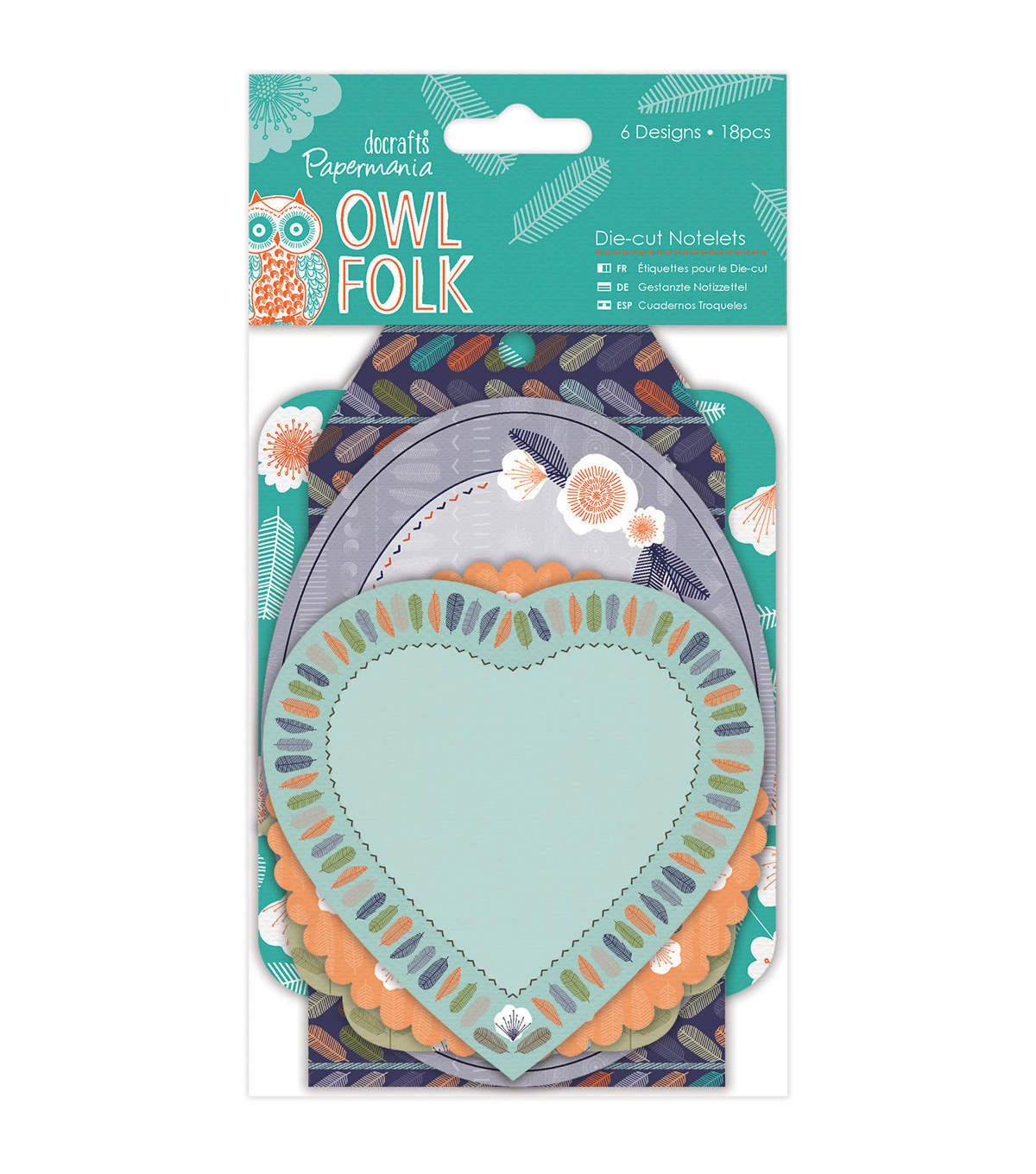 Papermania Owl Folk 18ct Die-Cut Notelets