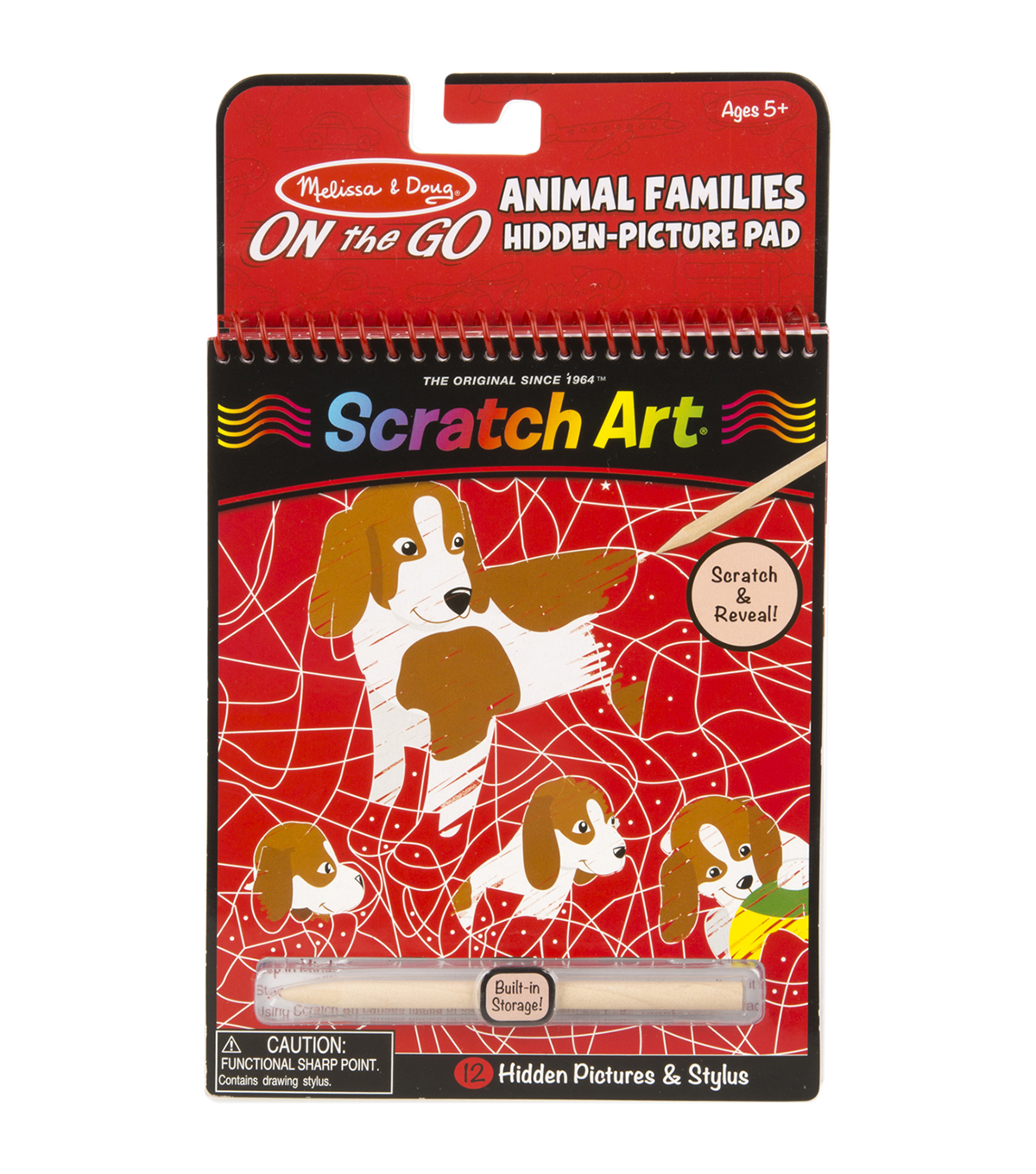 Melissa & Doug On The Go Scratch Art Animal Families Hidden Picture Pad