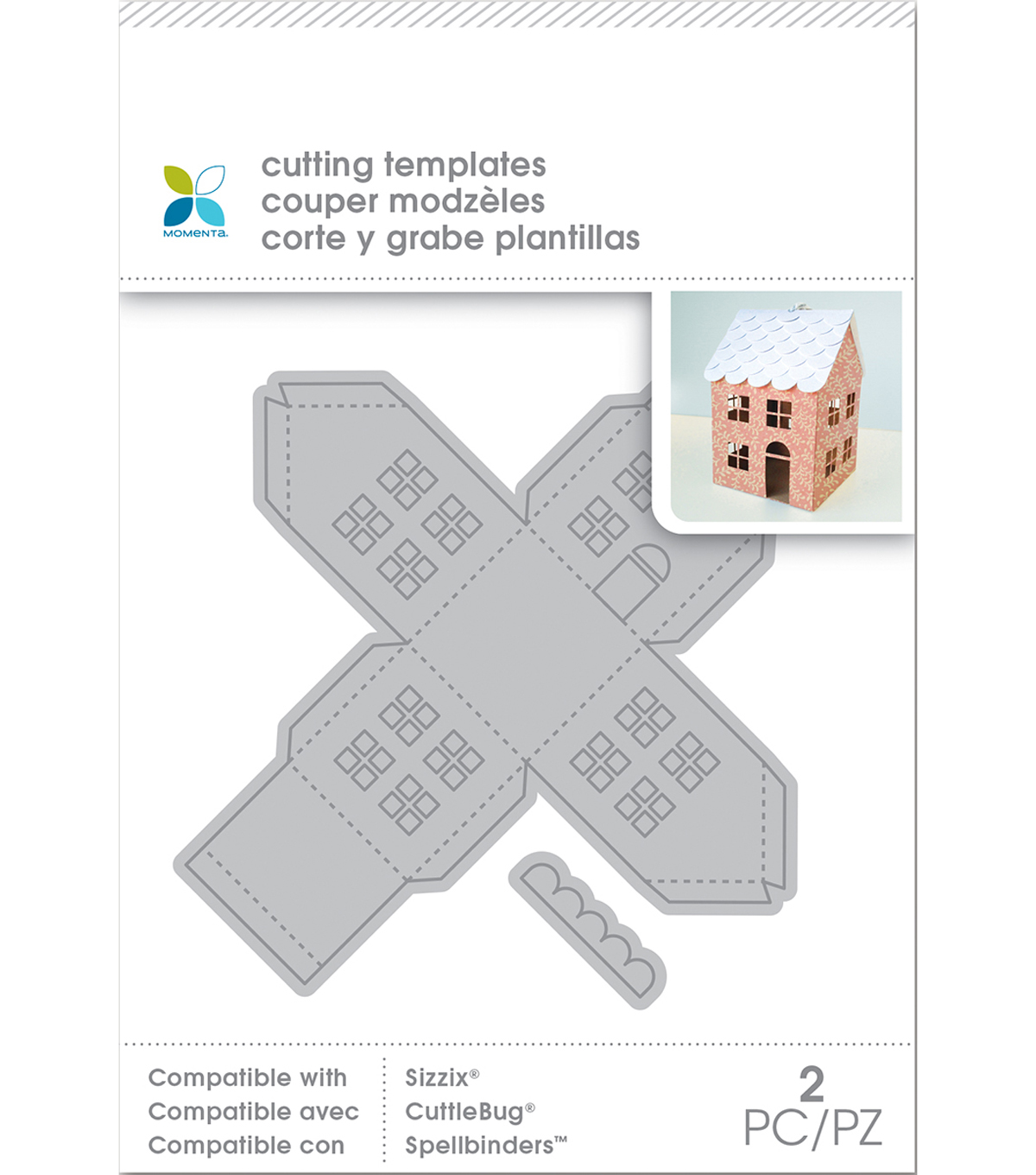 Momenta Die Cutting Templates-Small Mini House, 2pcs