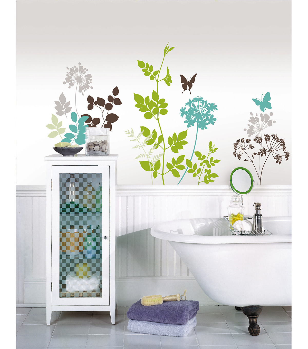 Wall Pops Habitat Wall Art Decal Kit, 14 Piece Set