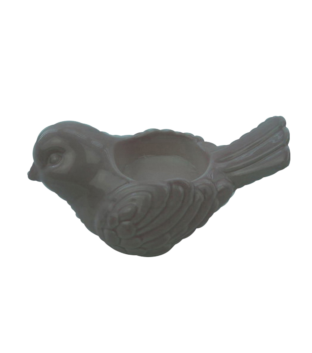 Wild Blooms Ceramic Bird Candle Holder-Pink