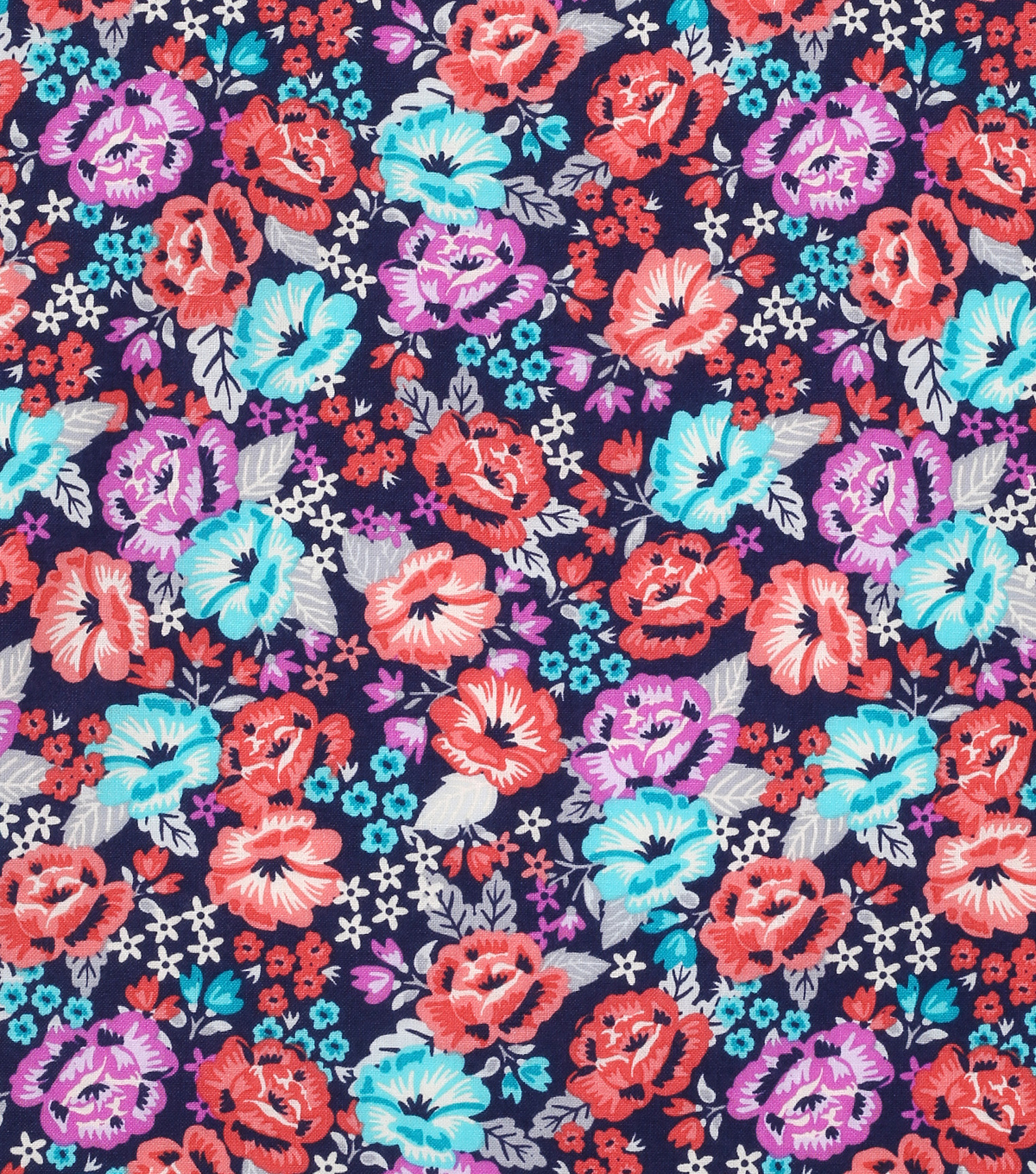 "Keepsake Calico™ Cotton Fabric 43""-Bright Floral"