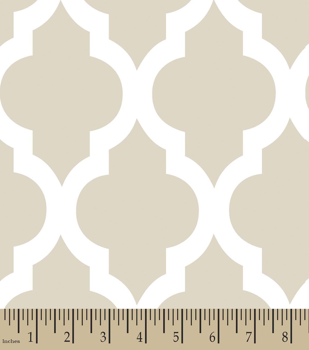 Geometric Tan Print Fabric