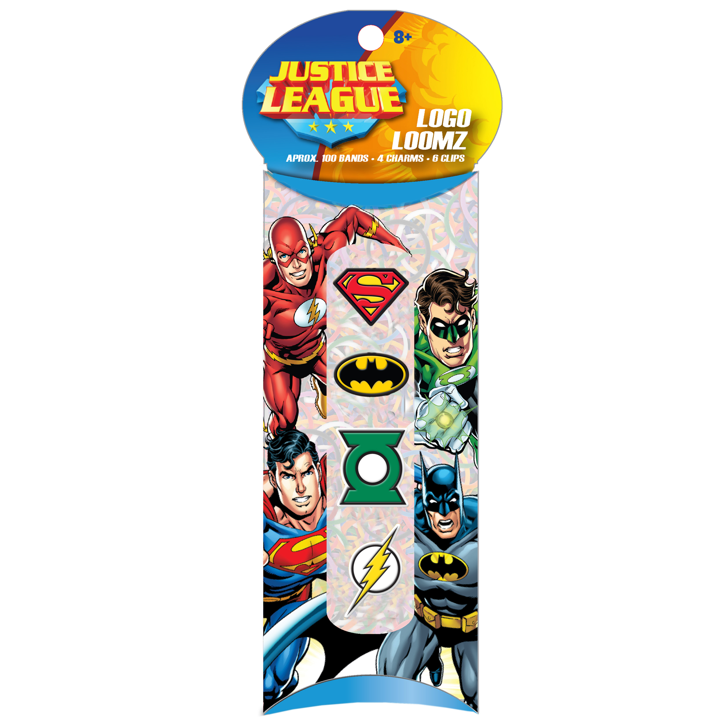 Forever Collectibles Logo Loomz Charm Pack Dc Comics Justice League
