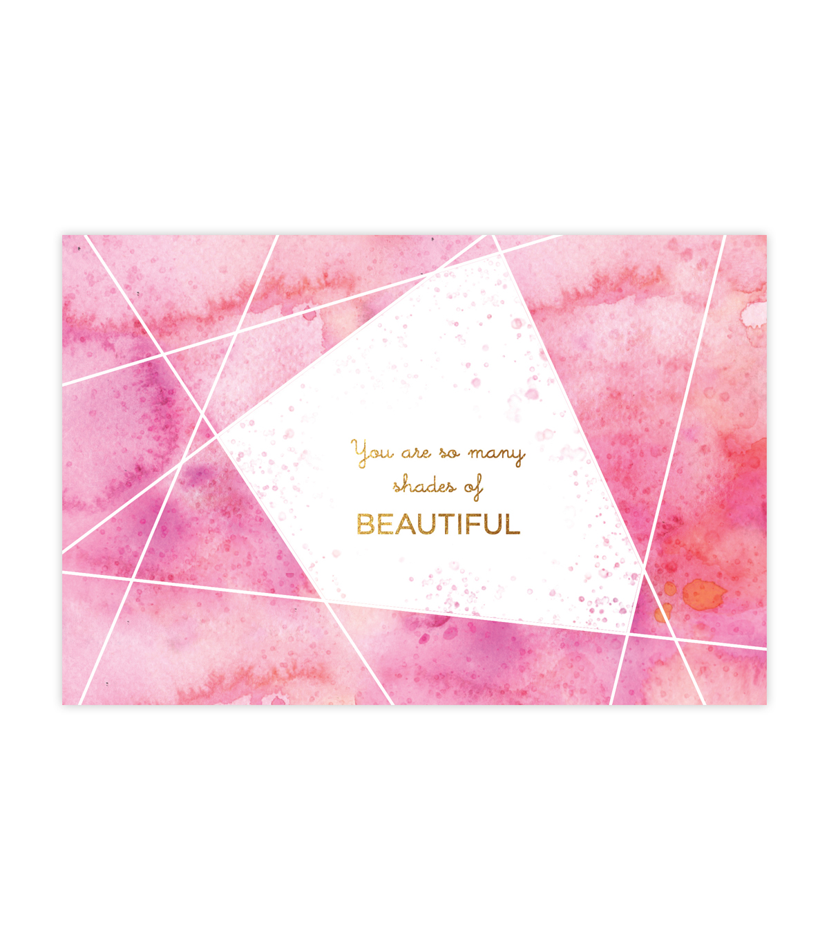 Creative Girl Watercolor Cards Shades of Beautiful 6Pk