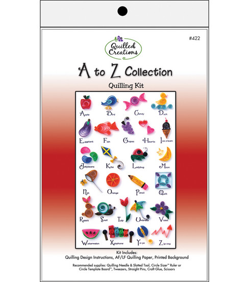 Quilled Creations Quilling Kit-A to Z Collection