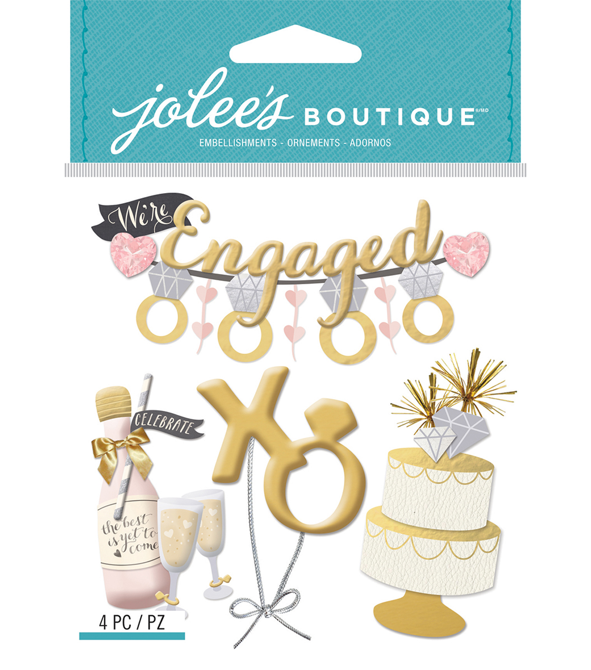 Jolee's Boutique Dimensional Stickers-Engagement Party