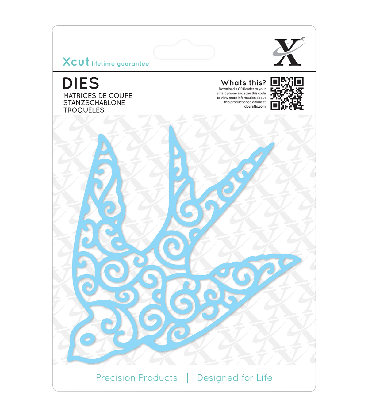 Xcut Decorative Die-Filigree Swallow