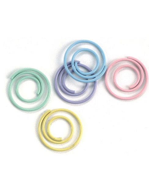 Mini Painted Metal Spiral Clips-25PK/Pastel